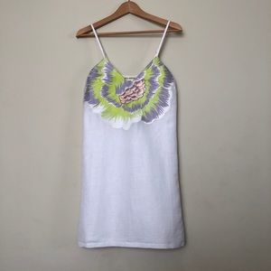 Mara Hoffman Linen Mini with Embroidery